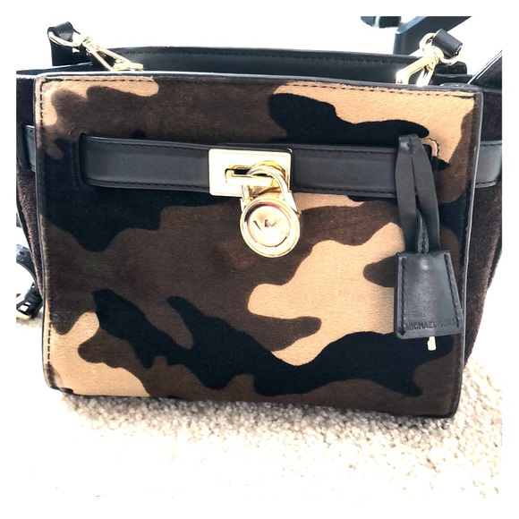 Michael Kors Camo Calfhair Crossbody Bag